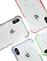 Недорогие -Кейс для Назначение Apple iPhone X / iPhone XS Max Защита от удара Кейс на заднюю панель Однотонный Мягкий ТПУ для iPhone XR / iPhone XS Max / iPhone X