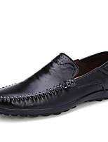 Недорогие -Муж. Комфортная обувь Полиуретан Зима На каждый день Мокасины и Свитер Нескользкий Черный / Желтый / Коричневый
