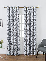 cheap -Two Panel American Style High Shading Printed Curtains Living Room Bedroom Dining Room Study Curtains
