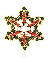 Недорогие -Жен. Классический Броши - Снежинка Брошь Черный / Красный Назначение Рождество / Повседневные