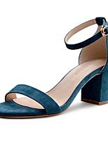 Недорогие -Девочки Обувь Замша Лето Удобная обувь Сандалии для Для подростков Синий / Розовый / Миндальный