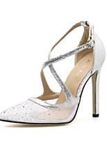 abordables -Femme Polyuréthane Printemps été Chaussures de mariage Talon Aiguille Noir / Argent / Mariage