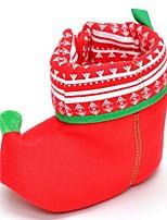 Недорогие -Мальчики / Девочки Обувь Хлопок Зима Обувь для малышей Ботинки На липучках для Дети Красный