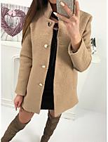 Недорогие -Жен. Праздники Искусственное меховое пальто Уличный стиль - Однотонный