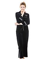 abordables -Femme Costumes Vêtement de nuit - Couleur Pleine, Brodée