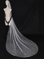 abordables -Une couche Luxe / Elégant & Luxueux Voiles de Mariée Voiles cathédrale avec Paillette Brillante / Paillette Tulle