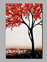 Недорогие -Hang-роспись маслом Ручная роспись - Абстракция / Пейзаж Современный / Modern холст