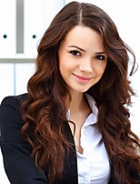 billiga -Äkta hår Spetsfront Peruk Brasilianskt hår Kroppsvågor Peruk 130% Hårtäthet Dam Mellan Äkta peruker med hätta