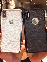 Недорогие -Кейс для Назначение Apple iPhone XR / iPhone XS Max Защита от удара / Покрытие / Ультратонкий Кейс на заднюю панель Однотонный Мягкий ТПУ для iPhone XS / iPhone XR / iPhone XS Max