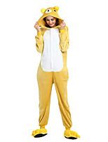 abordables -Adulte Pyjamas Kigurumi Ours Animé Combinaison de Pyjamas fibre de polyester Jaune Cosplay Pour Homme et Femme Pyjamas Animale Dessin animé Fête / Célébration Les costumes