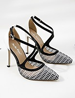 Недорогие -Жен. Полиуретан Весна & осень Обувь на каблуках На шпильке Черно-белый