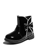 Недорогие -Девочки Обувь Синтетика Зима Модная обувь Ботинки Бант / Молнии для Дети Черный / Винный