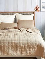baratos -Confortável - Almofadas 2pcs (apenas 1pc travesseiro para Duplo ou individual) / 1 Colcha Todas as Estações Poliéster Sólido