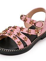 Недорогие -Девочки Обувь Микроволокно Лето Удобная обувь Сандалии для Дети Белый / Розовый
