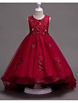 Недорогие -Дети Девочки Однотонный Без рукавов Платье