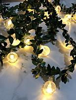 Недорогие -3M Гирлянды 20 светодиоды Тёплый белый Декоративная Аккумуляторы AA 1 комплект