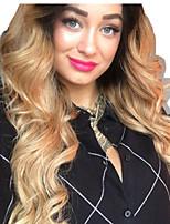 Недорогие -человеческие волосы Remy Полностью ленточные Лента спереди Парик Бразильские волосы Естественные кудри Естественные волны Золотистый Парик Ассиметричная стрижка 130% 150% 180% Плотность волос