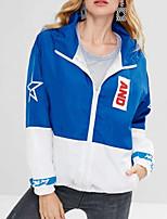 Недорогие -женская хлопчатобумажная куртка - цветной капюшон