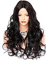 Недорогие -человеческие волосы Remy Лента спереди Парик Бразильские волосы Волнистый Парик С конским хвостом 130% 150% 180% Плотность волос / с детскими волосами / с детскими волосами