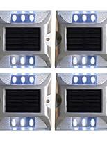 Недорогие -4шт 2 W Свет газонные / Светодиодный уличный фонарь / Солнечный свет стены Работает от солнечной энергии / Декоративная / Управление освещением Белый / Красный / Синий 1.2 V