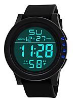 baratos -Homens Relógio Esportivo Japanês Digital Preta 30 m Impermeável Alarme Calendário Digital Fashion - Preto Preto / Azul / Cronógrafo / Cronômetro / Noctilucente