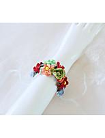 Недорогие -Свадебные цветы Букетик на запястье Свадьба / Свадебные прием Шелковый Как атласные / Тиснённая бумага 0-10 cm
