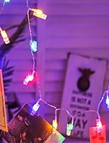 Недорогие -3M Гирлянды 17 светодиоды Разные цвета Декоративная Аккумуляторы AA 1 комплект