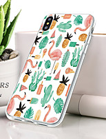 baratos -Capinha Para Apple iPhone XS Max Ultra-Fina / Estampada Capa traseira Flamingo / Animal Macia TPU para iPhone XS Max