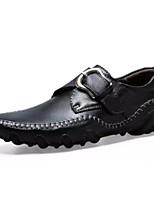 Недорогие -Муж. Комфортная обувь Полиуретан Осень На каждый день Мокасины и Свитер Нескользкий Черный / Коричневый / Винный