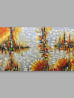 abordables -Peinture à l'huile Hang-peint Peint à la main - Abstrait Moderne Inclure cadre intérieur / Toile tendue