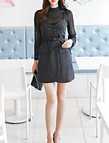 Недорогие -Женское платье тонкого свитера выше колена