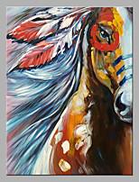 baratos -Pintura a Óleo Pintados à mão - Abstrato / Arte Pop Clássico / Modern Sem armação interna