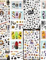 baratos -4 pcs Adesivo de folha Criativo arte de unha Manicure e pedicure Melhor qualidade Lolita Guro Halloween