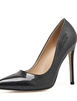 Недорогие -Жен. Полиуретан Весна & осень Обувь на каблуках На шпильке Черный / Серый