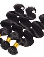Недорогие -3 Связки Малазийские волосы Естественные кудри 8A Натуральные волосы Необработанные натуральные волосы Подарки Косплей Костюмы Головные уборы 8-28 дюймовый Естественный цвет Ткет человеческих волос