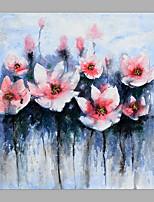 baratos -Pintura a Óleo Pintados à mão - Abstrato / Floral / Botânico Clássico / Modern Sem armação interna / Lona Laminada