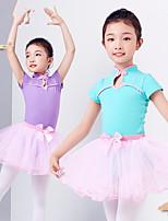 abordables -Danse classique Tenue Fille Entraînement / Utilisation Elasthanne / Lycra Noeud(s) / Combinaison Manches Courtes Jupes / Collant / Combinaison
