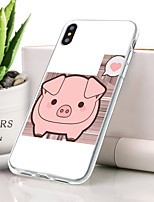 abordables -Coque Pour Apple iPhone XS Ultrafine / Motif Coque Animal Flexible TPU pour iPhone XS