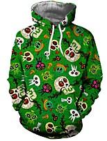 Недорогие -Вдохновлен Косплей Косплей Аниме Косплэй костюмы Косплей толстовки Разные цвета / Черепа / Английский Длинный рукав Толстовка Назначение Муж. Костюмы на Хэллоуин
