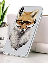 Недорогие -Кейс для Назначение Apple iPhone XS Ультратонкий / С узором Кейс на заднюю панель Животное Мягкий ТПУ для iPhone XS