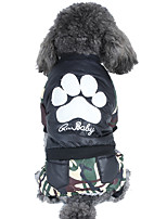 baratos -Cachorros / Gatos Casacos / Macacão Roupas para Cães Estampa Colorida / Côr Camuflagem Cinzento / Verde Algodão Ocasiões Especiais Para animais de estimação Unisexo Mantenha Quente / Punk