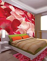 baratos -papel de parede / Mural Tela de pintura Revestimento de paredes - adesivo necessário Floral / Linhas / Ondas / 3D