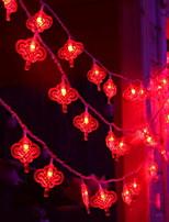 Недорогие -10 м Гирлянды 80 светодиоды Красный Декоративная 220-240 V 1 комплект