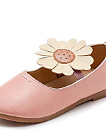 Недорогие -Девочки Обувь Полиуретан Весна лето Детская праздничная обувь На плокой подошве Цветы для Дети (1-4 лет) Серый / Коричневый / Розовый