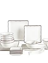 Недорогие -24 шт Глубокие тарелки Обеденные тарелки Стеклянная посуда посуда Фарфор Керамика Новый дизайн Cool Креатив