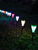 Недорогие -4шт / 1шт 2 W Свет газонные Работает от солнечной энергии / Декоративная / Управление освещением RGB / Белый 1.2 V Уличное освещение / двор / Сад 1 Светодиодные бусины