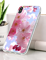 abordables -Coque Pour Apple iPhone XR Ultrafine / Motif Coque Fleur Flexible TPU pour iPhone XR