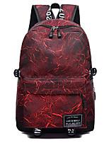 """Недорогие -Жен. Мешки Ткань """"Оксфорд"""" рюкзак Молнии Геометрический рисунок Черный / Красный / Лиловый"""