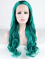 Недорогие -Синтетические кружевные передние парики Свободные волны / Loose Curl Свободная часть 180% Человека Плотность волос Искусственные волосы 18-26 дюймовый Жаропрочная / синтетический / Лучшее качество