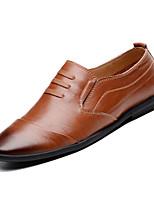 billiga -Herr Komfortskor Läder Höst Ledigt Loafers & Slip-Ons Andningsfunktion Svart / Brun / Khaki grön